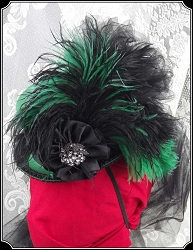 Lovely Green and Black Petite Victorian Riding Hat