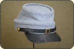 US Civil War Reenactors - Confederate - Gray Wool Kepi Hat Cap, Size XXL