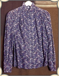 Ladies Wah Maker Paisley Blouse Size Small