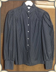 Ladies Wah Maker Polka Dot Blouse Size Small