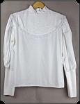 Ladies Fancy Button Back Blouse Size Large