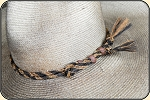 Twisted horse hair hat band