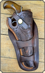 Holster Right-handed H. H. Heiser Model #713 Double Loop Holster  Made for VL&A Chicago
