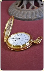 Elegantly Embossed Hunting Case - Mechanical Movement Pocket Watch