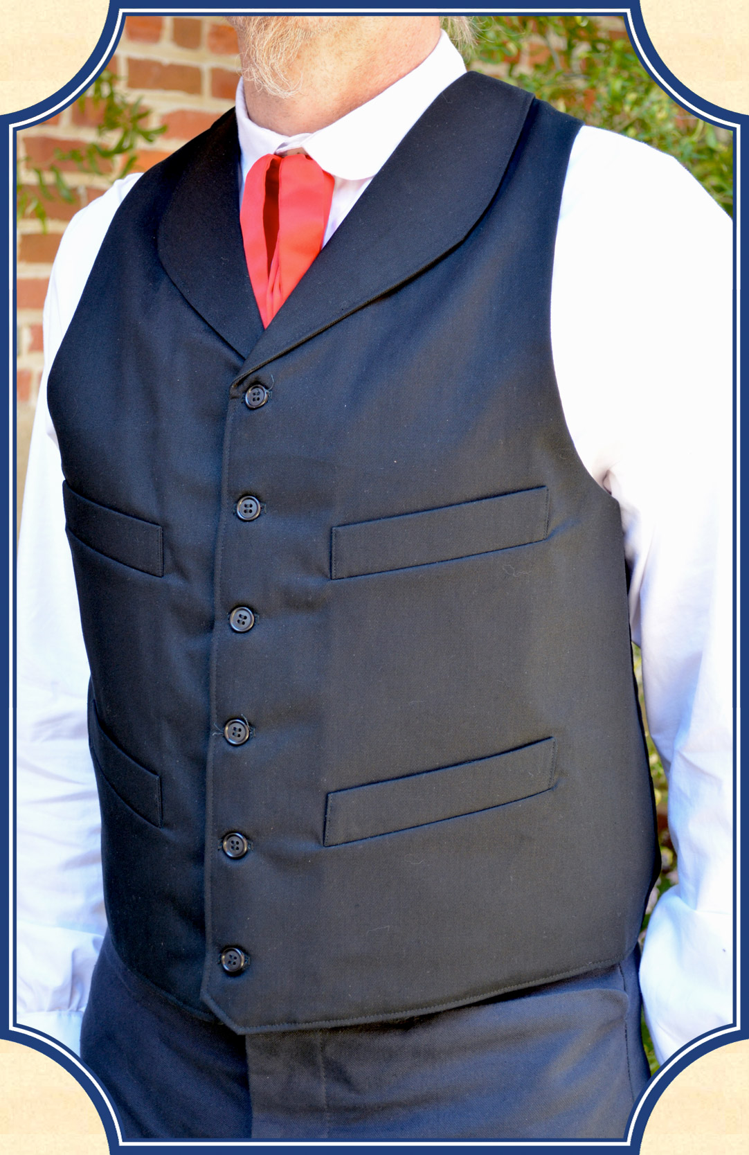 Brown Herringbone Wool Vest - Damanino   Bespoke Suit and