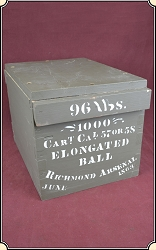z Sold Reproduction Richmond Arsenal ammunition crate