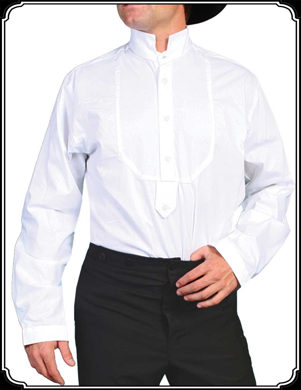 Stand Collar Shirts Designs : Pullover shirt with stand up collar from scully