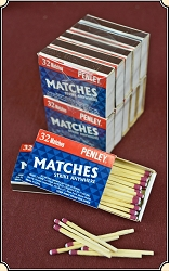 1 Pack of 10 boxes Wooden Vest Pocket STRIKE ANYWHERE Matches Vesta matchsafe