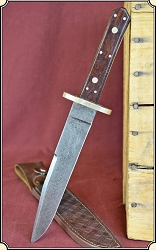 z Sold Classic damascus bowie knife.