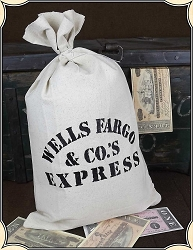Wells Fargo Money Bag
