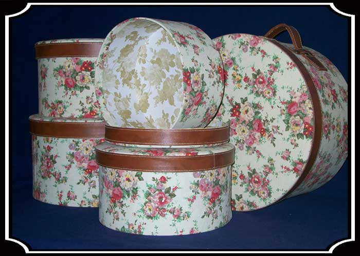 Ladies Victorian Hat Box Set