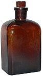 Large Brown Glass Bottle