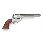 Non-firing Replica Pistol - 7 in.  Nickel Finish SA