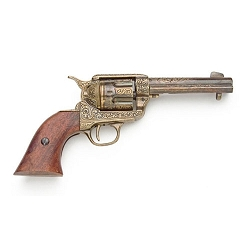 Non- firing pistol -1873 Fast Draw - Gold engraved