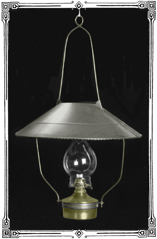 Hanging Old West Saloon Lamp