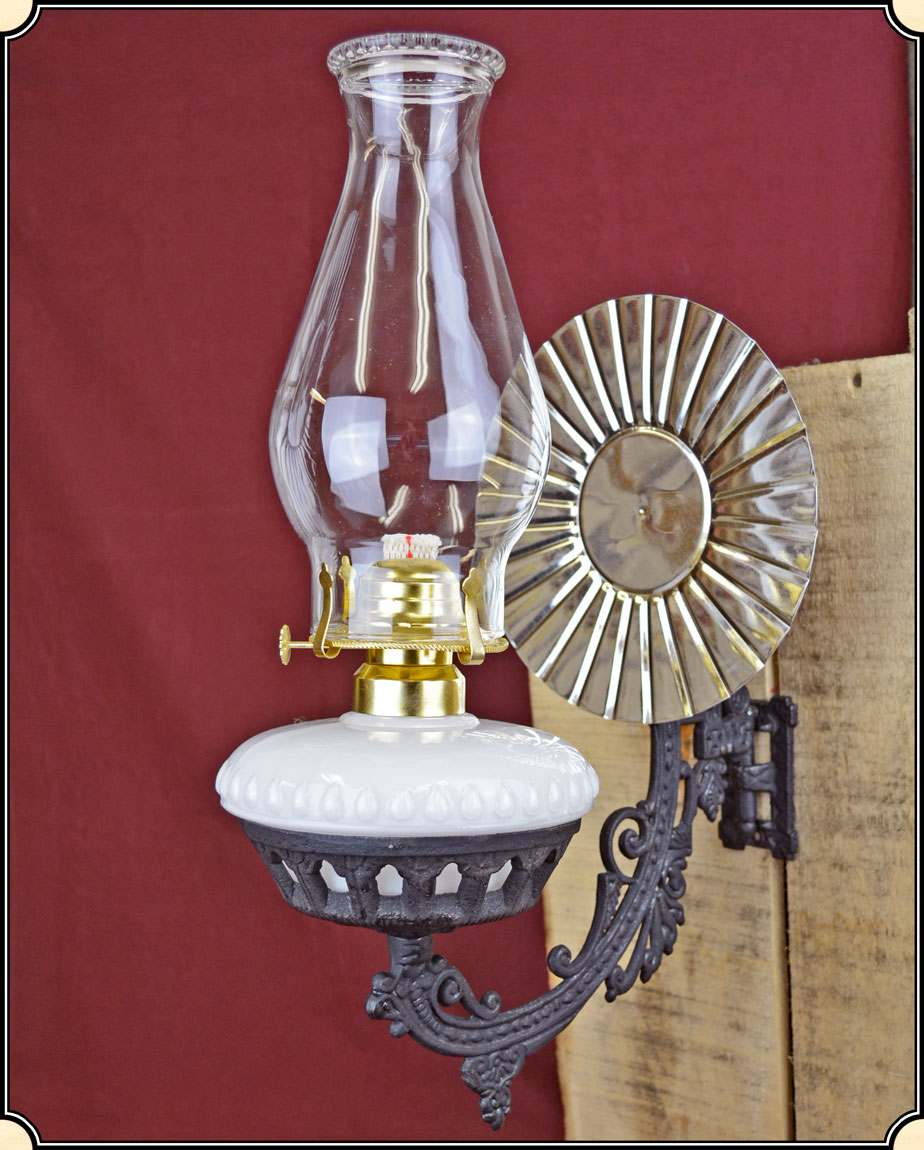 Wall Mounted Kerosene Lanterns : Wall-mount Lamp Electric or Kerosene