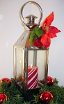 Only 1 Left ~ Candle Lantern - Silver - A Delightful Christmas or Holiday Treat