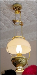 Lamp - Glass Shade Hanging - Electric