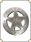 Badge -  Deadwood Marshal - Circle Star