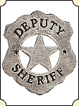 Badge - Dep. Sheriff - Shield Pierced Star