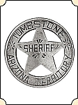 Badge - Tombstone AZ Territory Sheriff  - Circle w/ Pierced Star