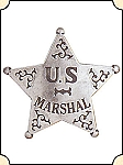 Badge -  US Marshal  - 5 pt. star