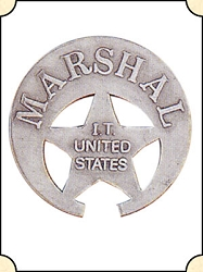 Badge - Marshal Indian Territory - US Crescent Pierced Star