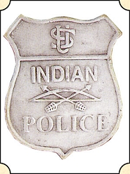 Badge - Indian Police - Shield