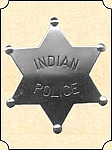 Badge - Tin star - Indian police