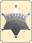 Badge - Tin Star - Marshal