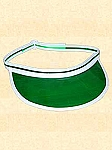 Men's Hat - Green Visor