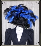 Ladies' Hat - Vintage Style Black and Blue Kentucky Derby Hat