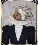Ladies' Hat - Vintage Style Cream Kentucky Derby Hat