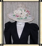 Ladies' Hat - Vintage Style White Kentucky Derby Hat