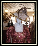 Ladies Golden Satin Victorian Hat