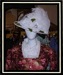 Ladies Hat - Eggshell Satin Victorian Hat