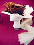 Ladies Hat - Large Victorian Touring Hat ~ Lush Brown Velvet or Satin and Ivory Lace