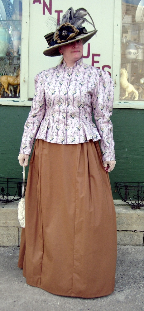Ladies Victorian Outfit with Old West Gored Peplum Jacket ...