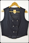 Wah Maker - Ladies Black Double Breasted Vest - Size Medium
