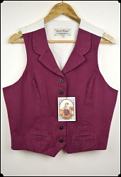 Wah Maker - Ladies Wine Cotton Vest