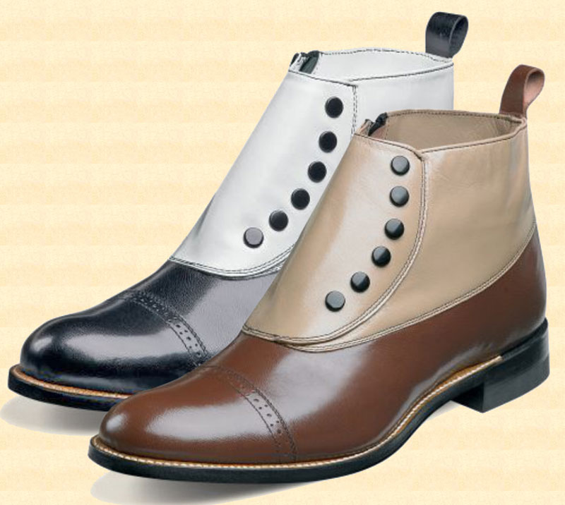 Mens Side-Zip Spat Shoe