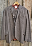 Branding Iron  3 piece Sack Suit - coat size 46