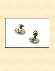 Gold Plated Collar Studs set of two