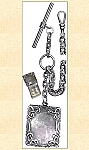Watch - Quality Watch Chain ~ With Large Square Locket Fob