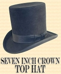 Men's Hat - 7 SEVEN INCH BELL CROWN Fur Felt Top Hat