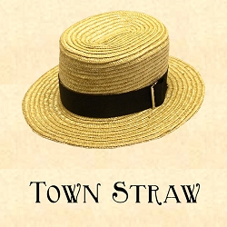 Men's Hat - Town Straw Hat - 2 1/2