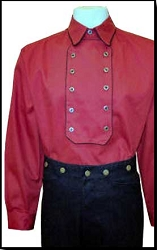 Frontier Classics Canton  Bib shirt In Red Size 3XL Only