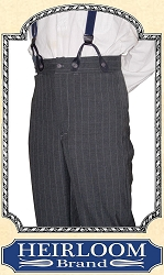 Trousers - Suspender Pants Trousers - Dress Wool - Heirloom Brand