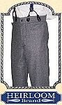 Trousers - Suspender Pants Trousers - Worsted Wool - Heirloom Brand