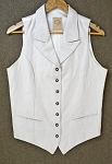 WahMaker - Ladies White Brocade Vest - Size Small